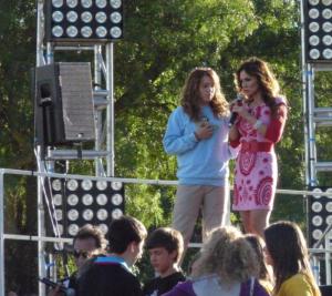 Sobre el escenario